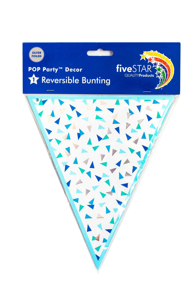 Five Star Blue and Silver bunting