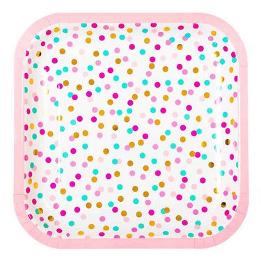 Hipp Pink and Gold Confetti Napkins