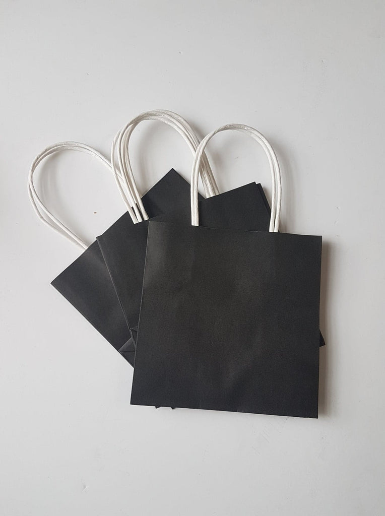 Black Gift Bags with String Handles
