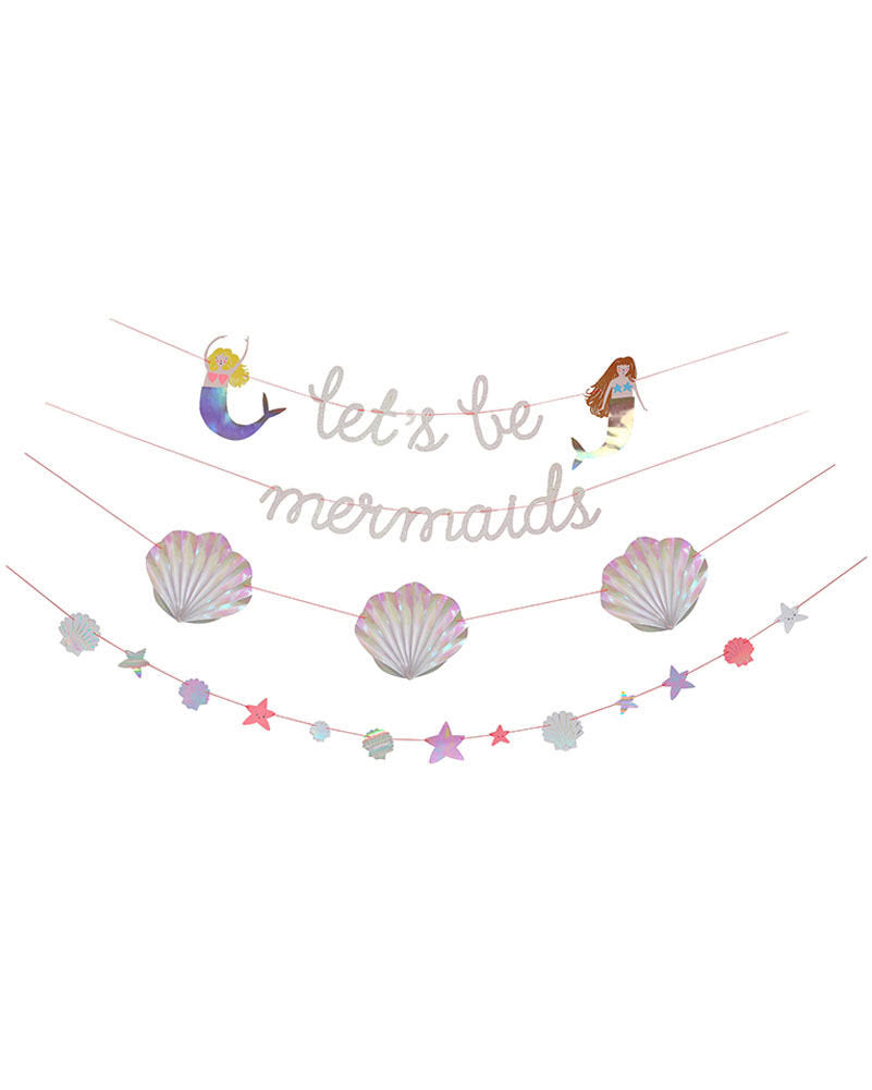 Mermaid  Iridescent garlands