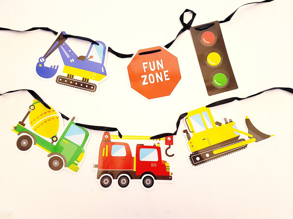 Construction party bunting