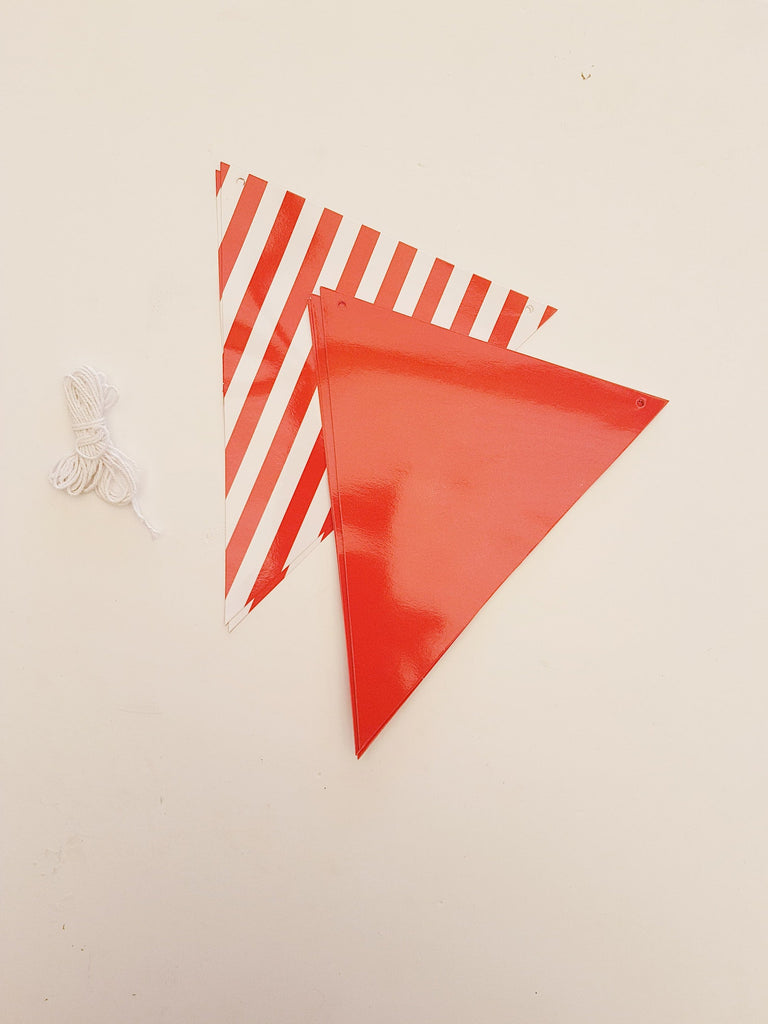 Red and white bunting