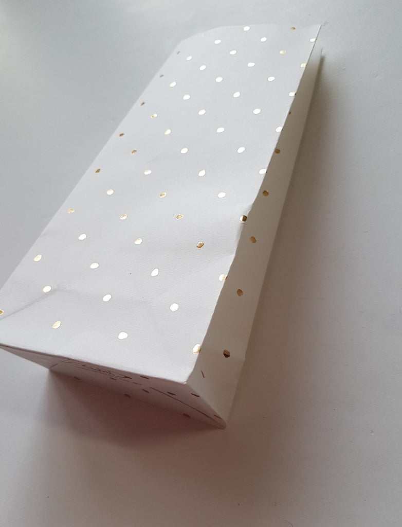 Tall Gold Foil Spot Paper bag