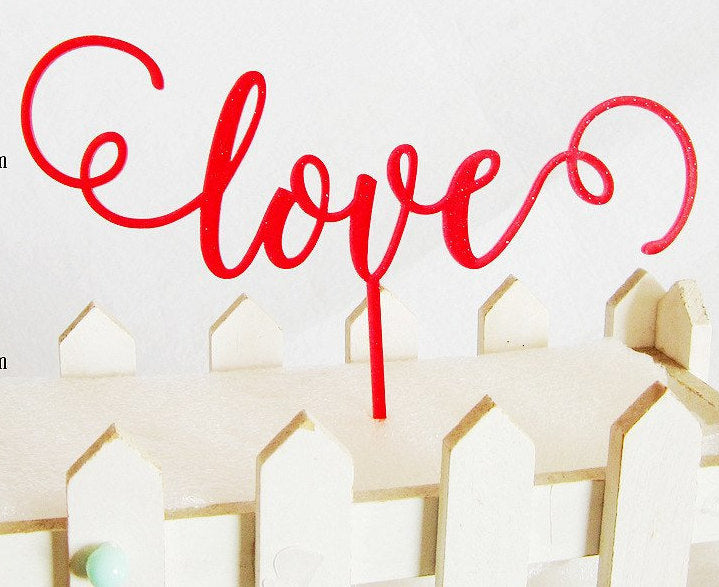 Red Love Cake topper