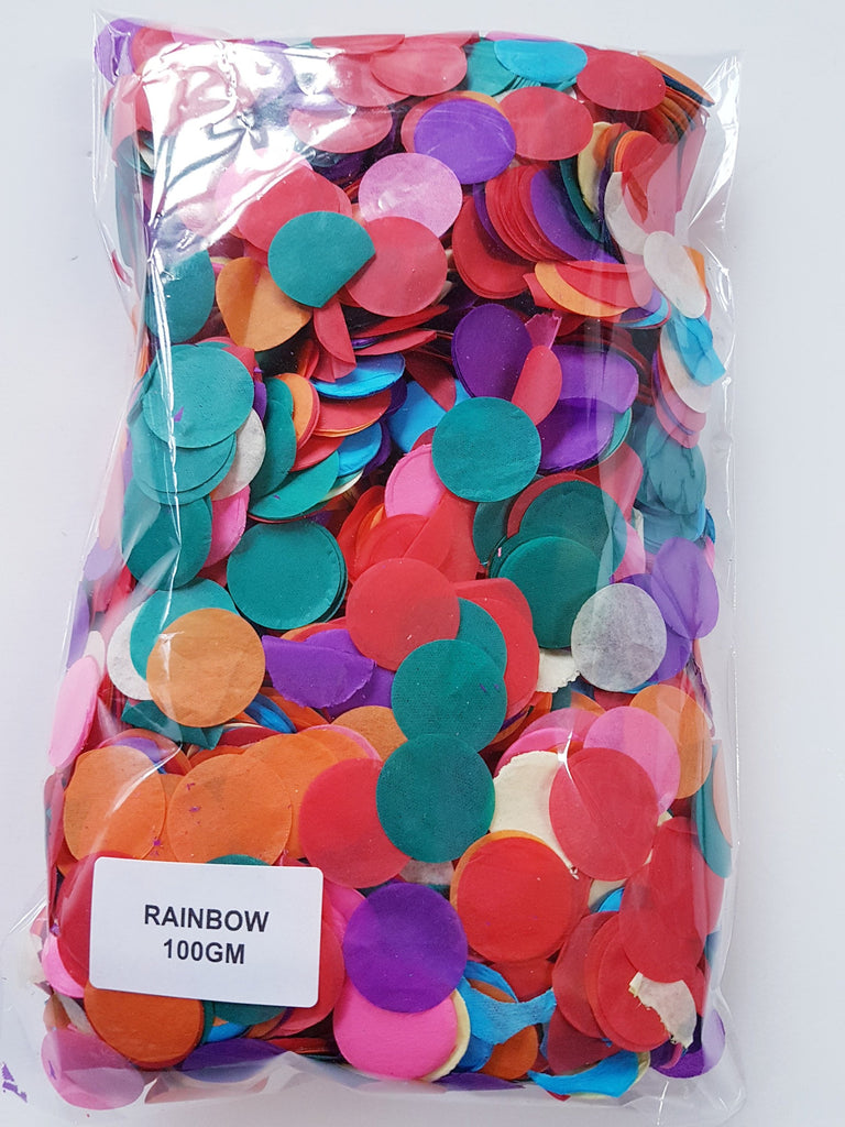 Jumbo Rainbow confetti mix party