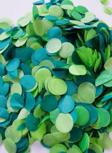 Jungle green confetti mix