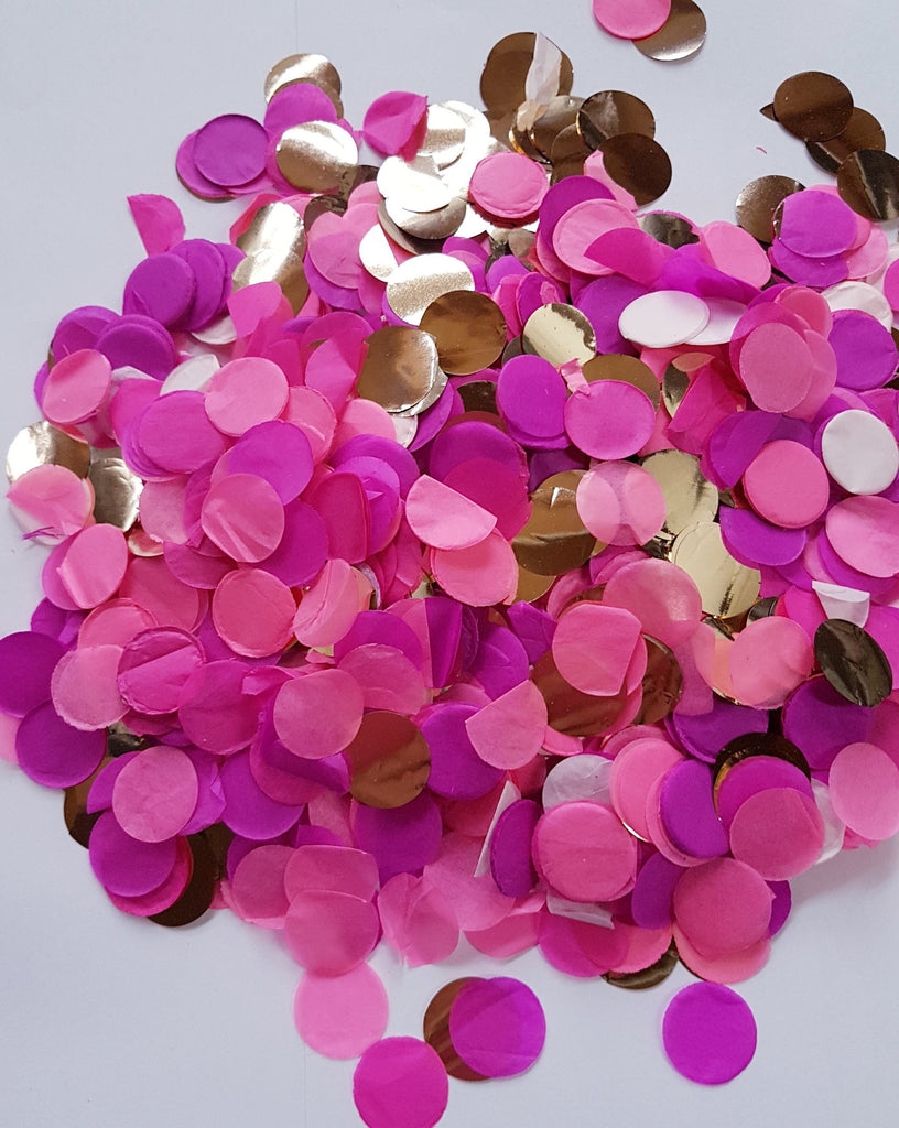 Pink and gold confetti mix