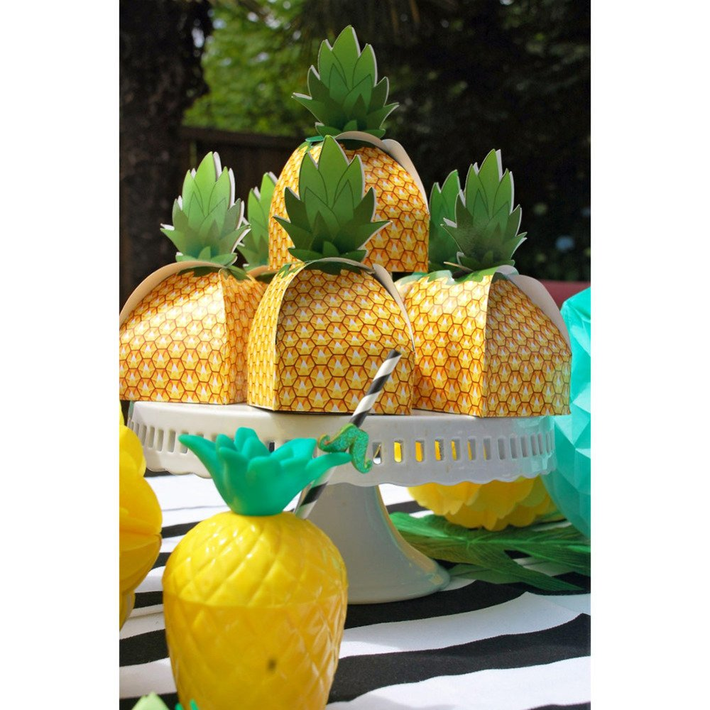 Tropical Pineapple Candy Boxes