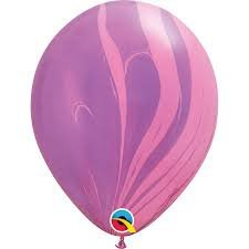 Qualatex Pink and Purple Marble Balloons