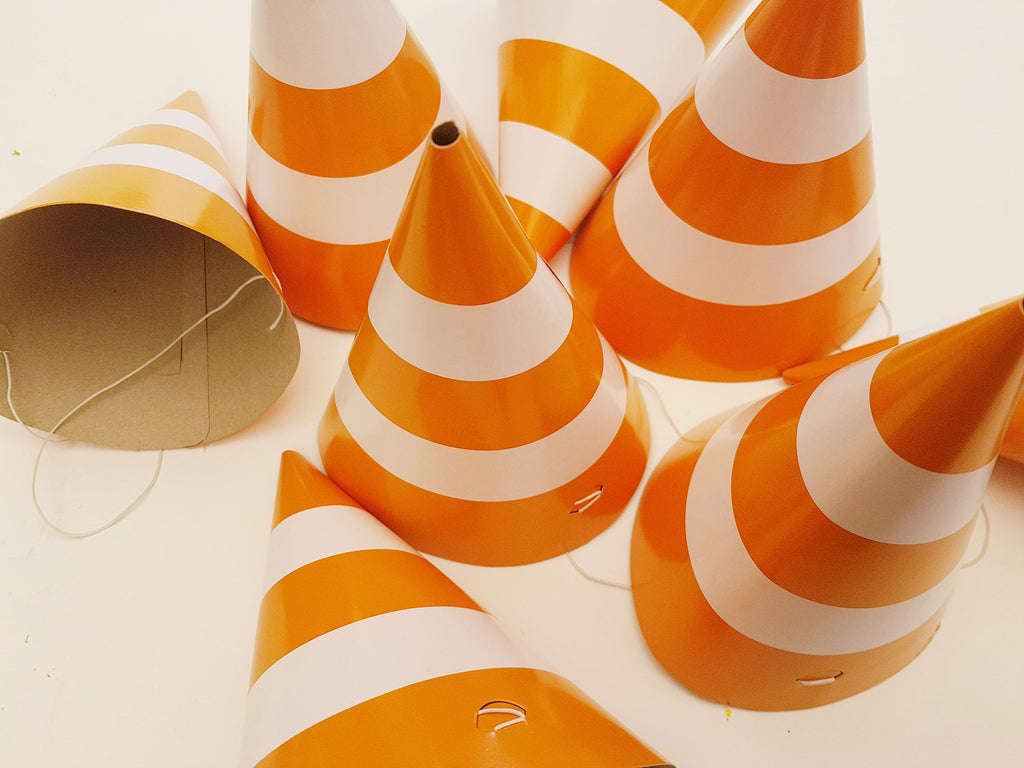 Traffic cone party hats