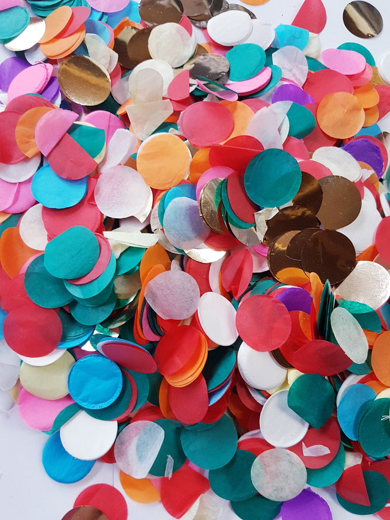 Glitz Rainbow confetti mix