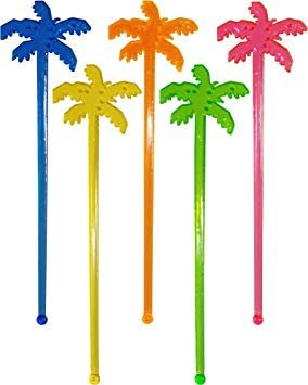 Tropical Palm Tree Drink Stirrers