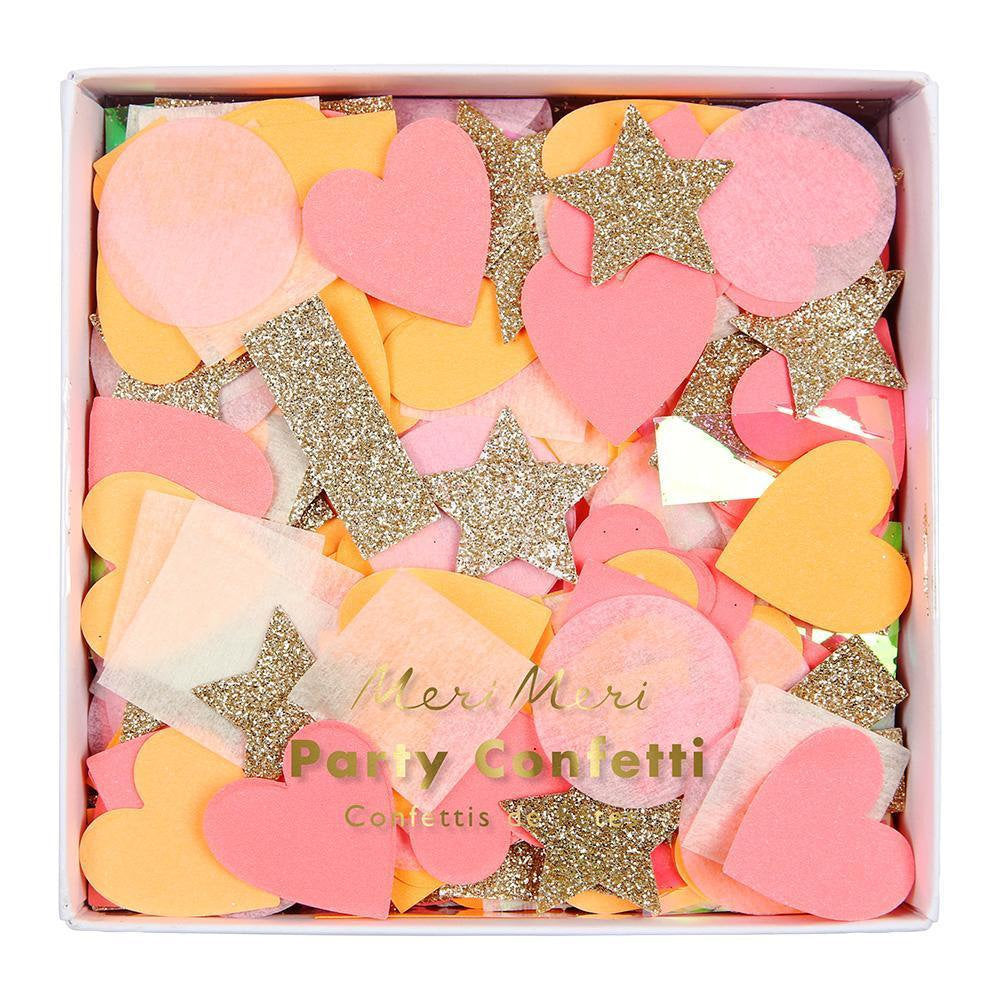 Pink and Gold Glitter confetti mix