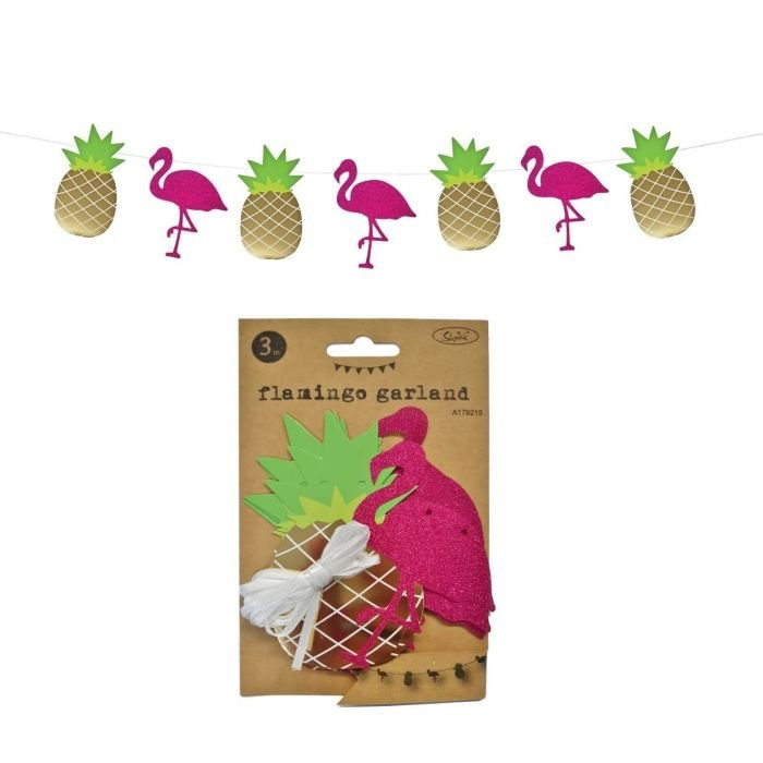Flamingo and Pineapple Garland