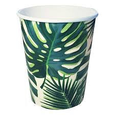 Talking Tables Monstera Leaf Print Cups