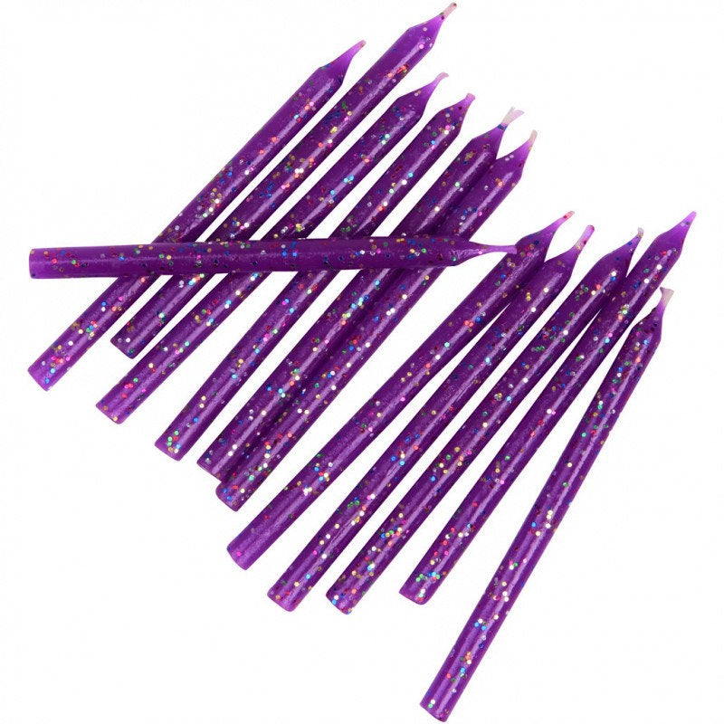 Purple glitter Candles