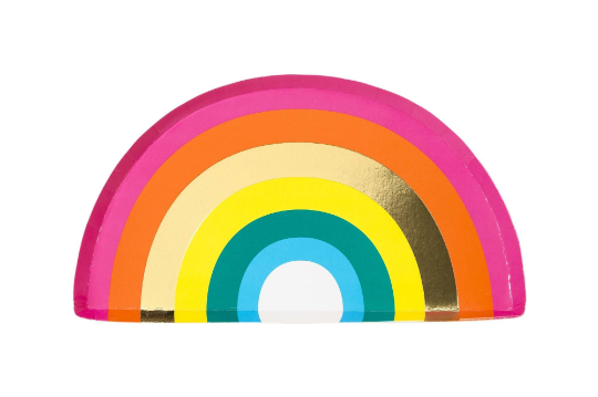 Talking Tables Metallic Rainbow Plates
