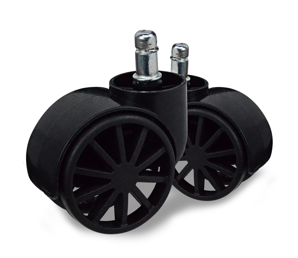 Black Caster Wheels – Twin Pack