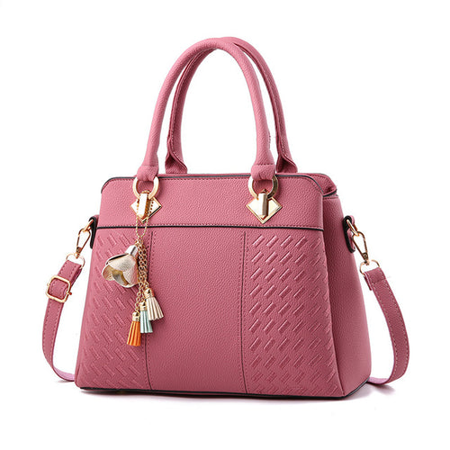 Female bag 2018 with Brand Fashion Pendant, Ladies Hand Bags Shoulder High Quality