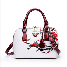 Luxury leather shell messenger HandBag