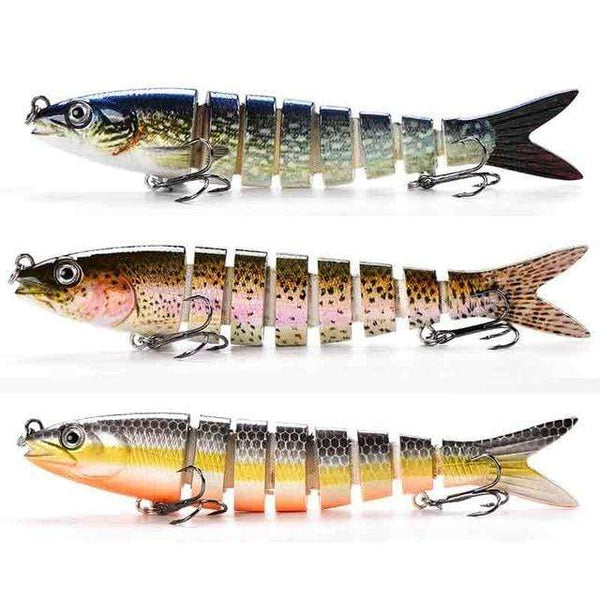 papi pêche Leurre Lot de 3 SOFT Hard/Soft Swimbait 13Cm 19Gr