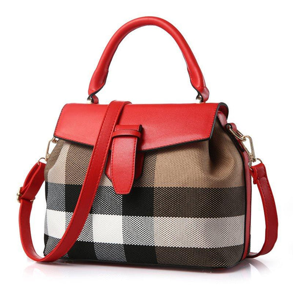 Stripe Flap Pocket Women's Handbag