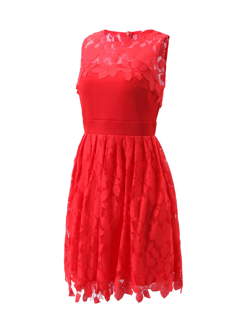 Size L XL Round Neck Sleeveless Knee-Length A-Line Summer Dress