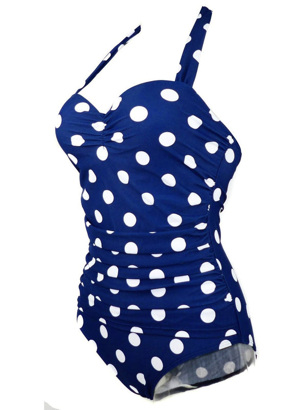 One Piece Polka Dots Fashion Swimwear