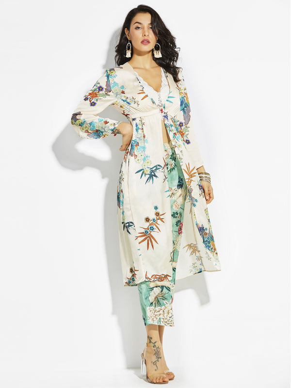 Polyester Floral Summer Cape