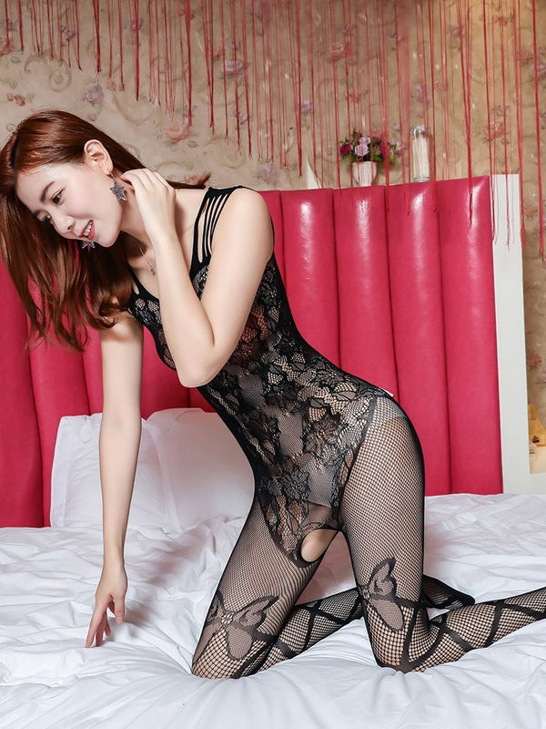 See-Through Animal Nylon Pantyhose Bodystockings