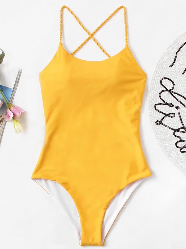 Plain One Piece Swimwear
