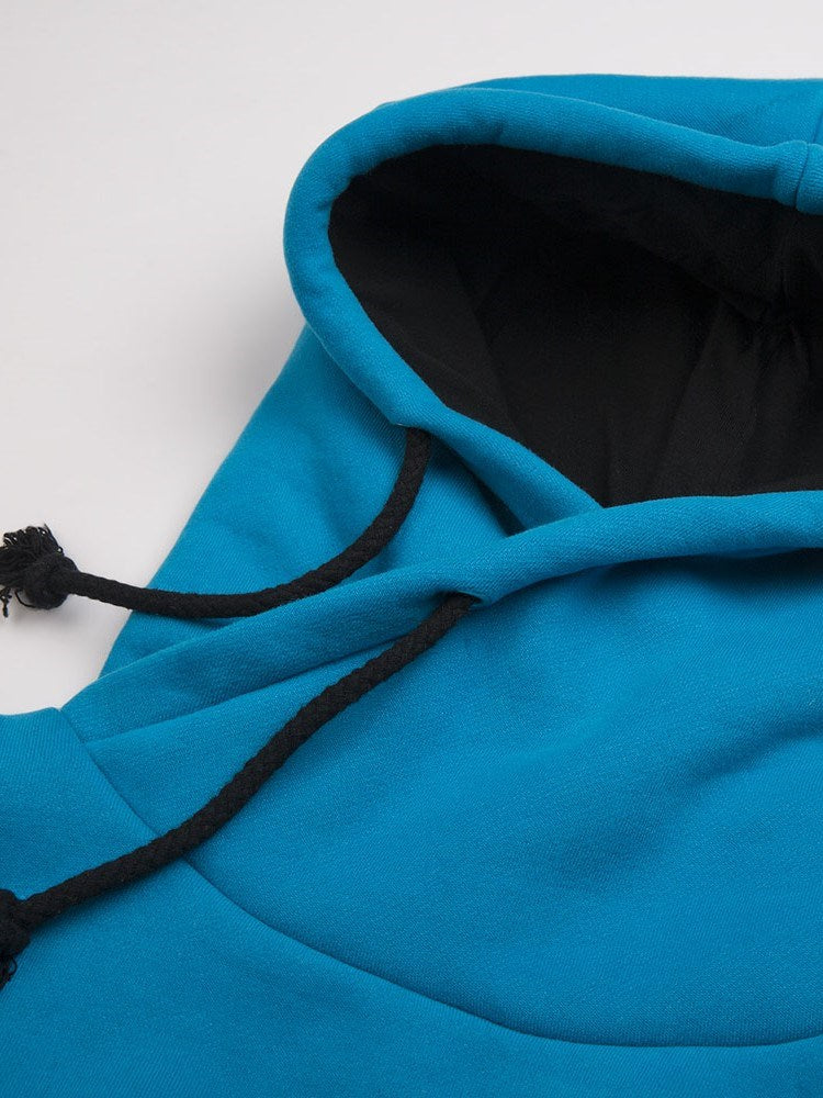 Size S~XL Plain Fall Stand Collar Hoodie