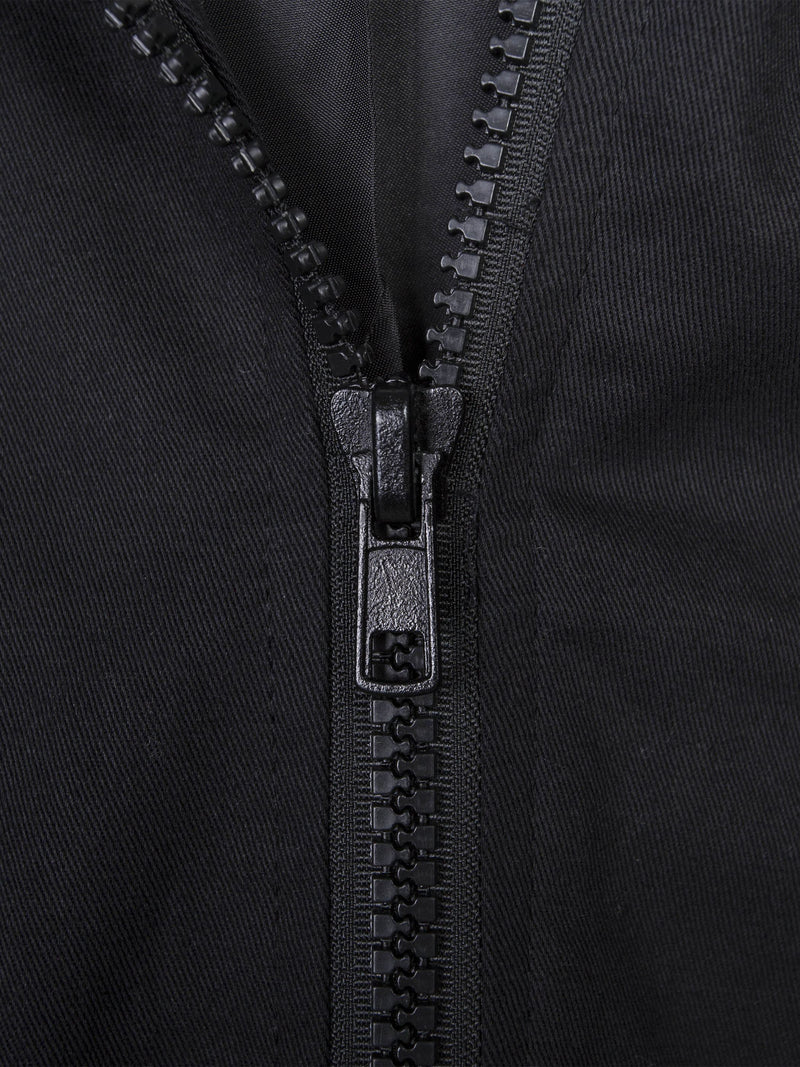 Plain Hooded Spring Zipper Jacket