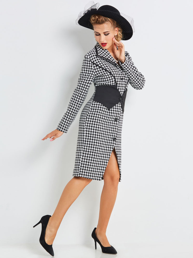 Mid-Length Long Sleeve Wear to Work Trench Coat