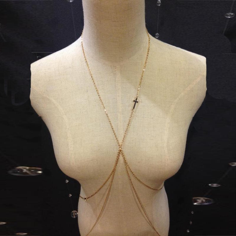 European Pearl Inlaid Body Chain Necklaces