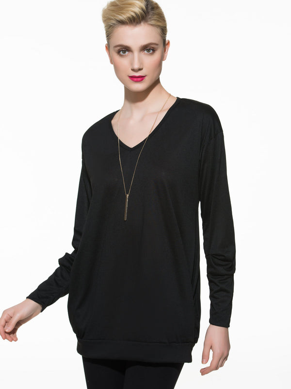 Long Sleeve Standard Loose Petite T-Shirt