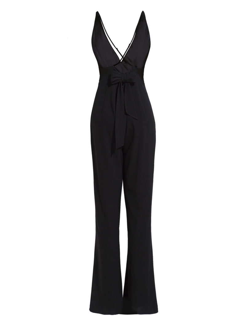 Size XL Full Length Backless Sexy Bellbottoms Slim Jumpsuit