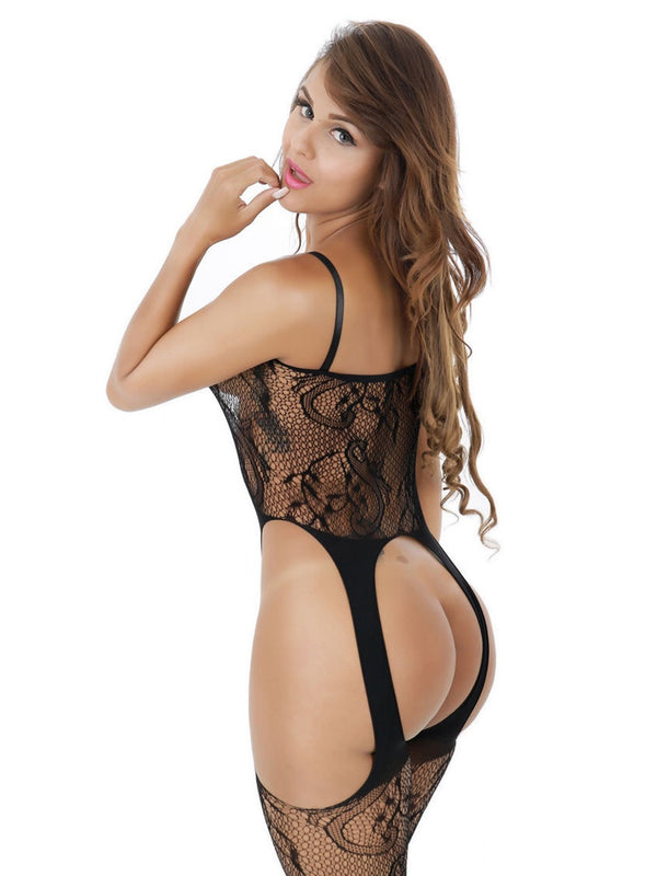 See-Through Plain Spaghetti Strap Tight Wrap Sleeveless Nylon Teddies & Bodysuits