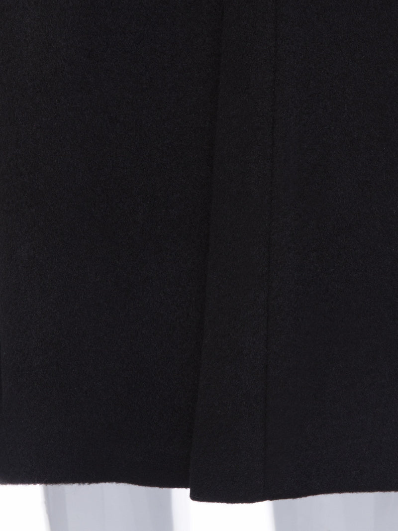 A-Line Single-Breasted Mid-Length Overcoat