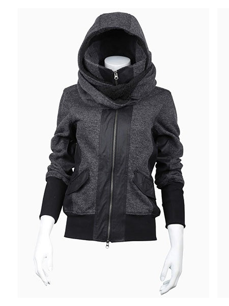 Regular Zipper Hooded Thick Hoodie
