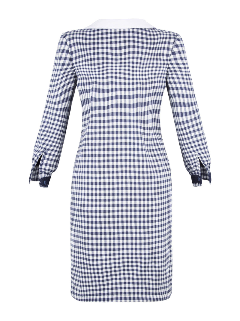Size XL Knee-Length Long Sleeve Pullover A-Line Dress