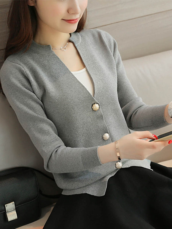 Regular Regular V-Neck Slim Sweater