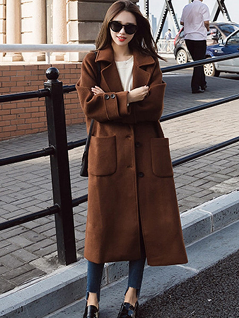 Size XL Loose Winter Long Overcoat