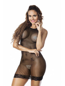 Mesh Plain Halter Tight Wrap Sleeveless Nylon Babydolls