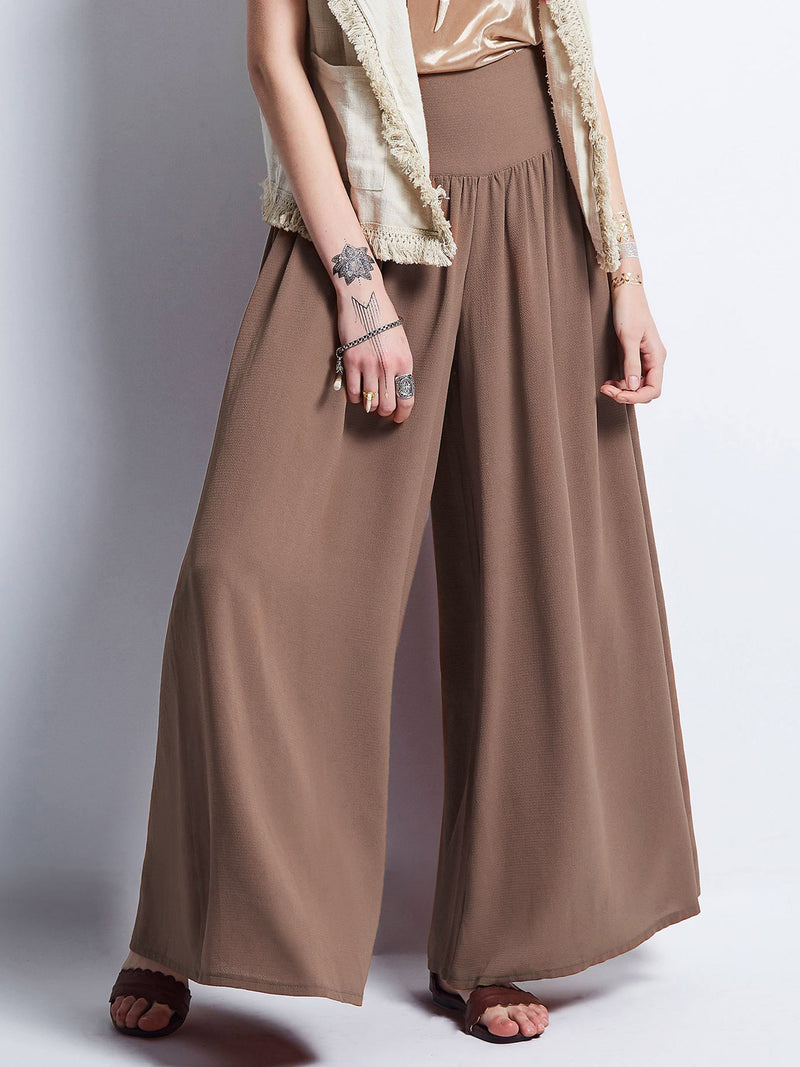 Size S M Plain Loose Wide Legs Full Length Casual Pants