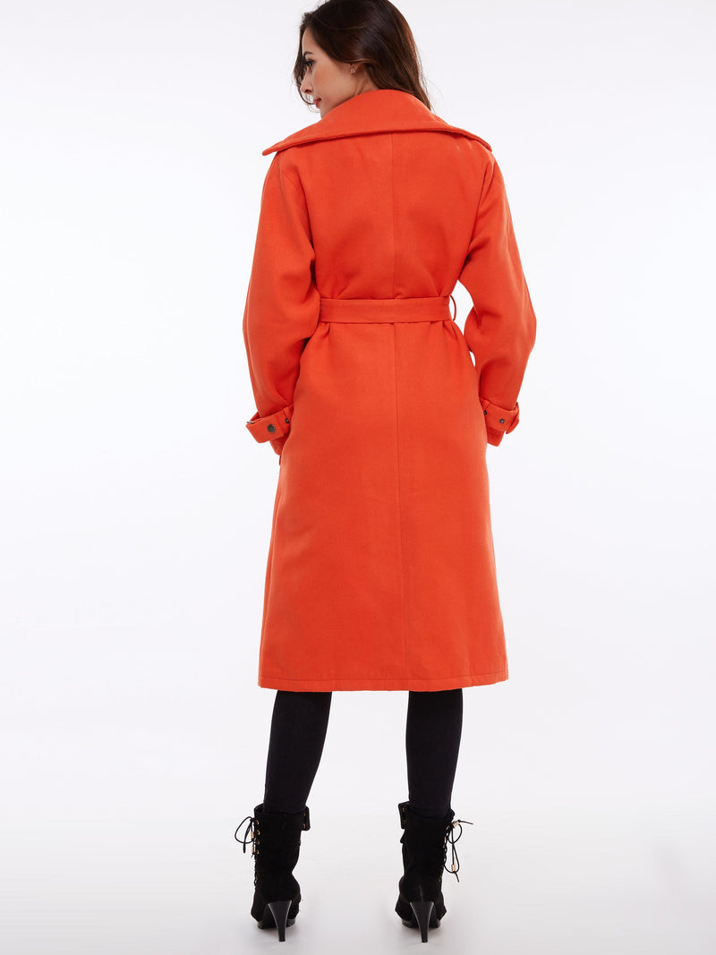 Size XL Regular Slim Mid-Length Fall Overcoat