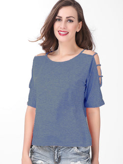 Round Neck Three-Quarter Sleeve Standard Fall Loose T-Shirt