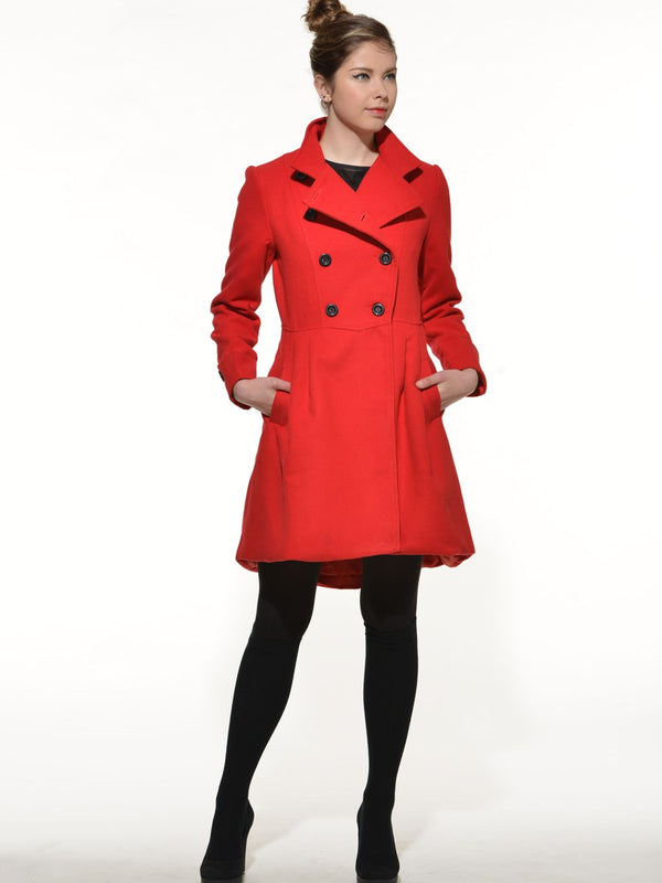 Size XL Straight Regular Double-Breasted Fall Mid-Length Overcoat