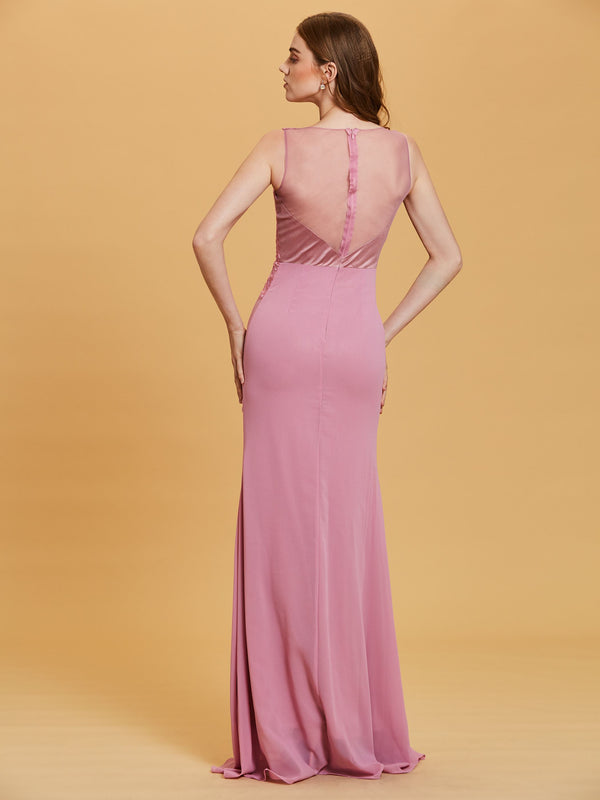 Sleeveless Embroidery Floor-Length A-Line Evening Party Dress