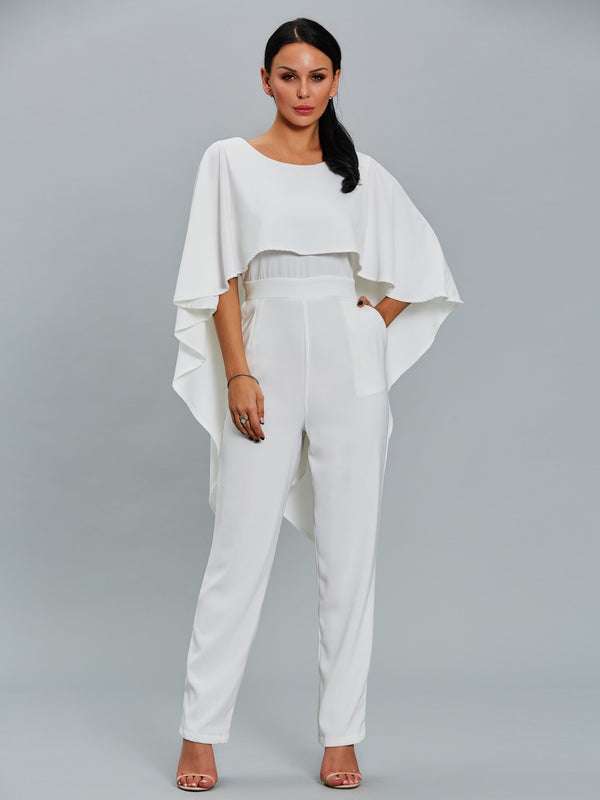 Size M L Backless Plain Full Length Slim Pencil Pants Jumpsuit